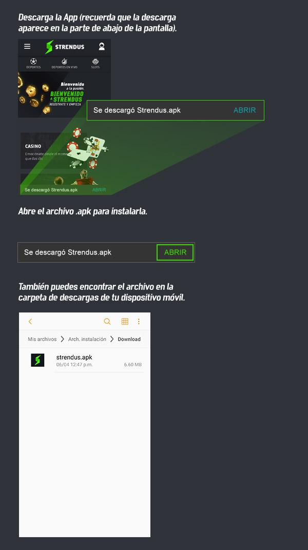 App Strendus de apuestas deportivas Configuracion