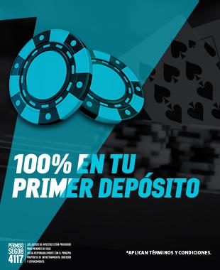Bono Primer Depósito Casino -  Al realizar tu primer depósito de mínimo $100 MXN duplicaremos esta cantidad al 100%...