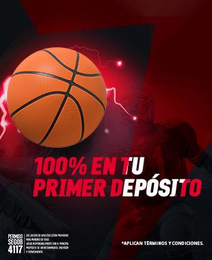 BONO PRIMER DEPÓSITO DEPORTES - Al realizar tu primer depósito de mínimo $100 MXN duplicaremos esta cantidad al 100% (hasta un máximo de $2,000 MXN)