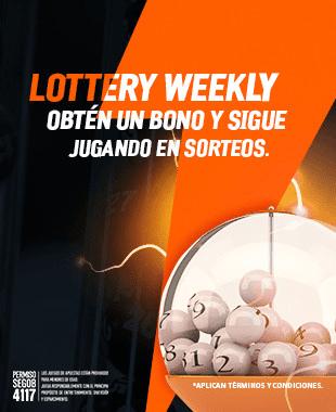 Diviértete durante las 3 primeras semanas del mes de Junio en Sorteos y en caso de pérdidas recibe un bono de recompensa para Sorteos.