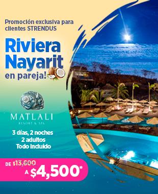 """Obten un paquete todo incluido de 3 días y 2 noches para 2 adultos en """"Matlali Resort & Spa"""" en la Riviera de Nayarit"""