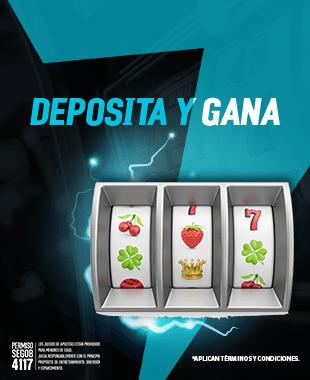 deposita y gana - Por cada $200 pesos que deposites los lunes de marzo te daremos 20 giros gratis en el juego de la semana...