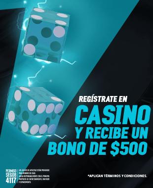 Regístrate utilizando el código CASINO500 y recibe un bono de $400 para jugar en todos los juegos de Casino en Strendus.