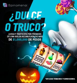 Promo Spinomenal Octubre Sorteo Dulce o Truco