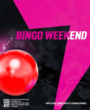 Bingo Weekend - Recibe un bono de recompensa por las pérdidas netas que hayas tenido jugando en Video Bingo durante sábados y domingos.