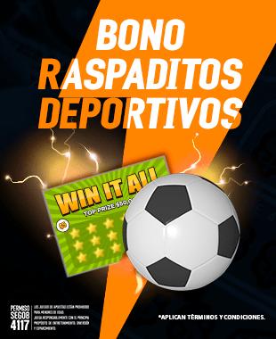 Promo Bono Raspaditos Deportivos Sportsbook Deportes Loteria