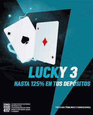 Lucky 3 -  Durante Marzo te recompensamos por los tres primeros depósitos que realices en la semana...