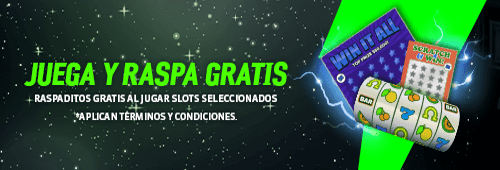 Juega Raspaditos y Lotería en Strendus Slots y obtén un cashback del 25%
