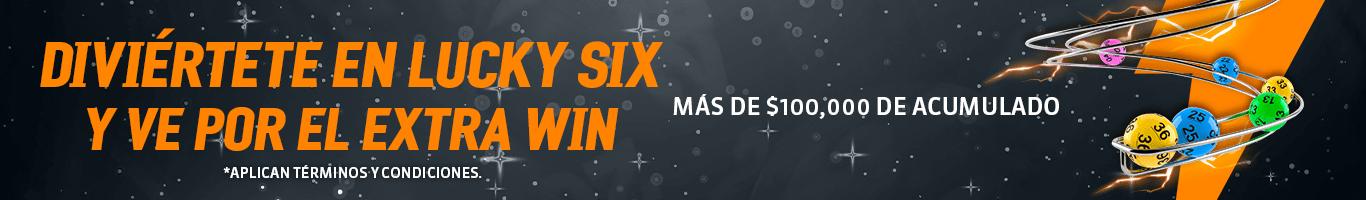 """Las apuestas que realices en """"Lucky Six 35/48"""" Lotería también participan para ganar el jackpot """"Extra Win""""."""